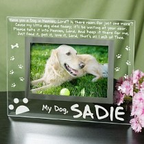 pet memorial picture frame heaven - Dog Memorial Frame