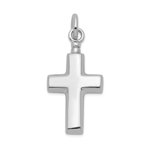 Cross Urn Pendant for Ashes- Sterling Silver