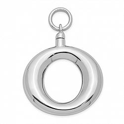 Ring Shaped Urn Pendant for Ashes- Sterling Silver