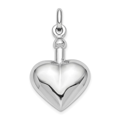 Heart Shaped Urn Pendant for Ashes- Sterling Silver