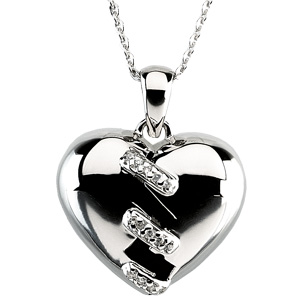 Broken Heart Pendant & Chain - Suitable for Divorce Or Death - Christian Jewelry