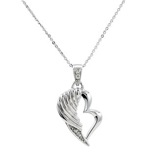 The Broken Wing Pendant & Chain Remembrance Necklace - Free Shipping