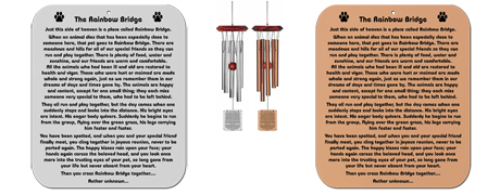 Rainbow Bridge Poem Wind Chimes For Cats