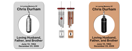 Personalized Memorial Wind Chimes - Urn Wind Chimes