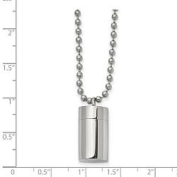 Stainless Steel Capsule Ashes Necklace for Man - Free Shipping