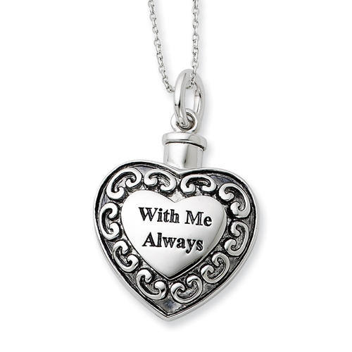 With Me Always Cremation Necklace - Cremation Jewelry - Free Shipping