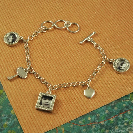 Key to my heart Photo charm bracelet - Memorial Bracelet
