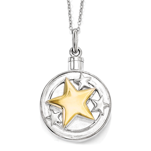 Your Brightest Star Necklace For Ashes - Cremation Jewelry - Free Shipping