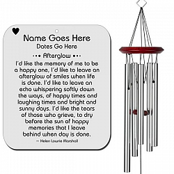 Personalized Memorial Wind Chime - Afterglow Silver
