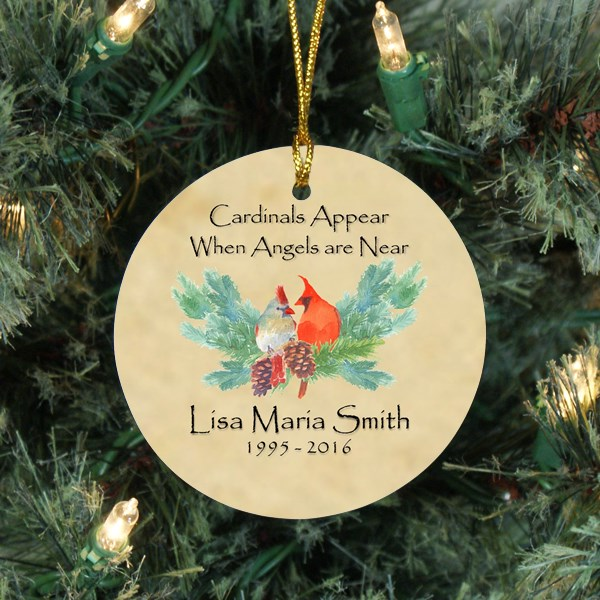 Cardinal Personalized Memorial Ornaments