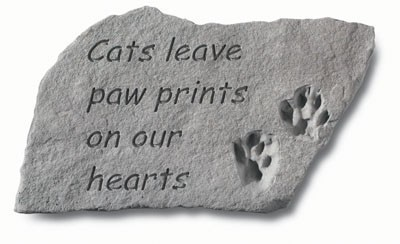 Cats Leave Paw Prints - Pet Memorial Garden Stone