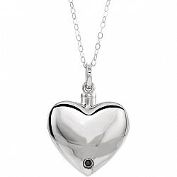 Sterling Silver Cremation Jewelry for Ashes - Loss of Dad Ashes Pendant