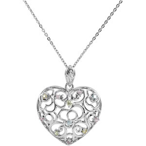 Desires of the Heart Sterling Silver Pendant and Chain - Inspirational Jewelry