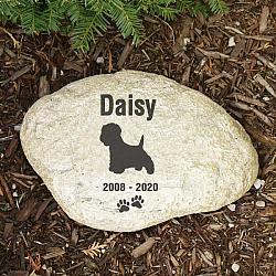 Pet Memorial Garden Stone Westie - Pet Remembrance Gift - Free Shipping