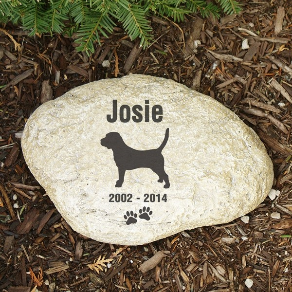 Pet Memorial Garden Stone Beagle - Pet Remembrance Gift - Free Shipping