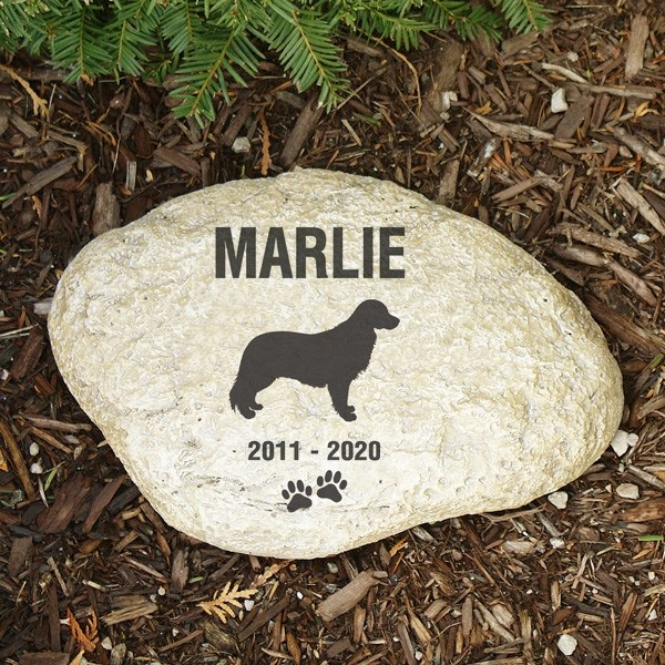 Pet Memorial Garden Stone Golden Retriever - Pet Remembrance Gift - Free Shipping