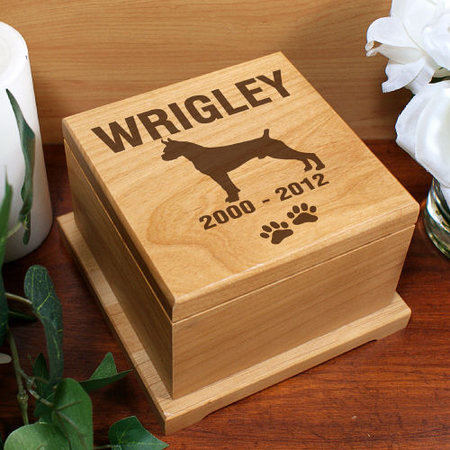 Engraved Dog Breed Pet Memorial Urn - Pet Memorial Gifts