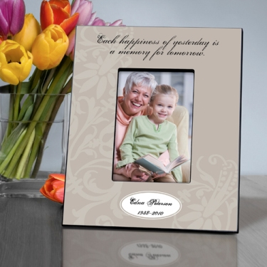 Personalized Happiness Memorial Picture Frame