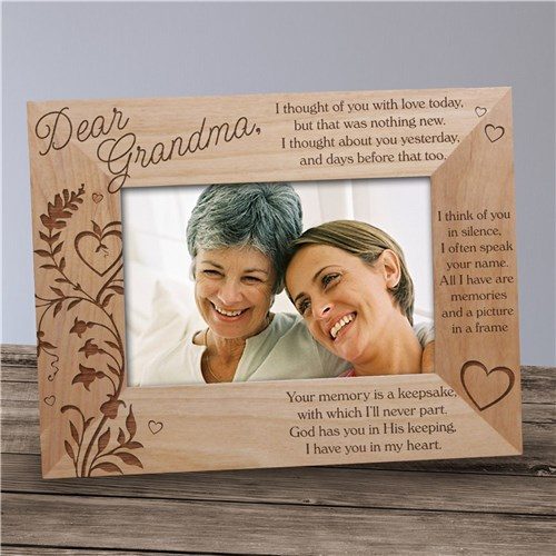 Personalized Memorial Photo Frame - Your Memory