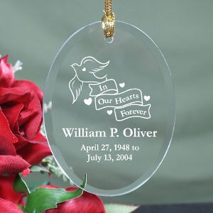Engraved In Our Hearts Forever Ornament - Memorial Gift Ideas