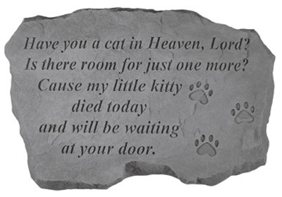 Garden Stone Memorial Have you a cat in heaven lord pet memorial garden stone memorial have you a cat in heaven lord pet memorial garden stone workwithnaturefo