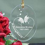 Personalized In Loving Memory Memorial Christmas Ornament