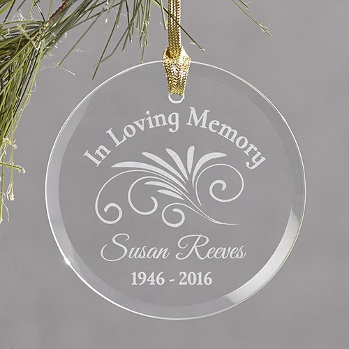 In Loving Memory Christmas Memorial Ornament