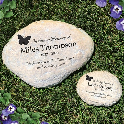 In Loving Memory Butterfly Personalized Memorial Garden Stone