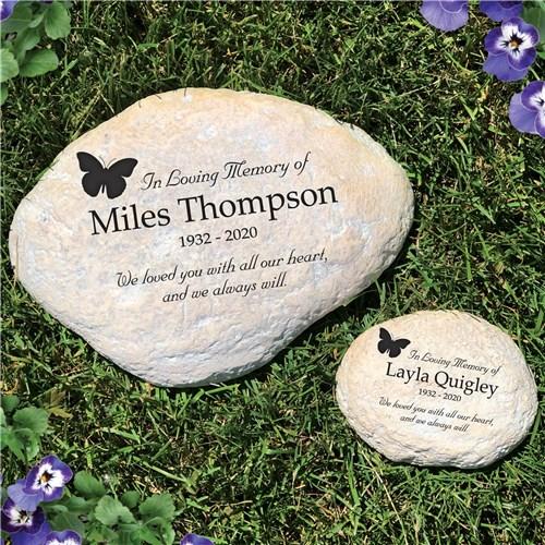 In Loving Memory Butterfly Personalized Memorial Garden Stone