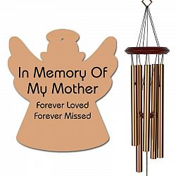 Angel Wind Chime - Memorial Wind Chimes for Mother - Bronze, Free Shipping, Urn Available