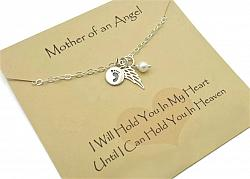 Mother of an Angel Remembrance Necklace - Free Shipping