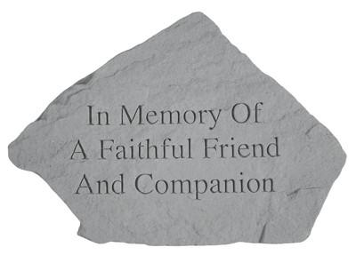 In Memory of a Faithful Friend Pet Memorial Garden Stone