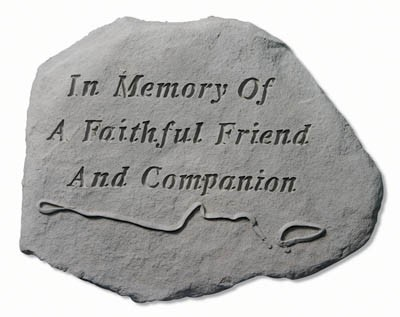 In Memory of a Faithful Friend and Companion Pet Memorial Garden Stone