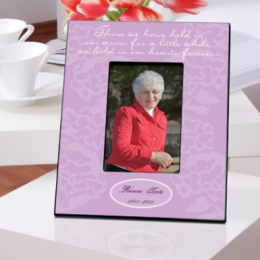 Personalized Memorial Picture Frame Our Hearts In Lavender