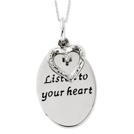 Listen To Your Heart  Inspiration Necklace