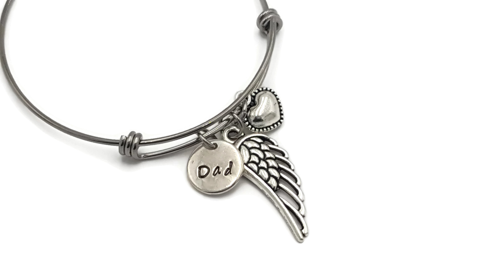 Loss of Dad Memorial Bracelet - In Loving Memory of Father - Free Shipping