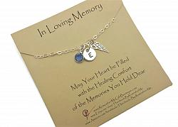 Sterling Silver In Loving Memory Memorial Necklace Personalized - Free Shipping