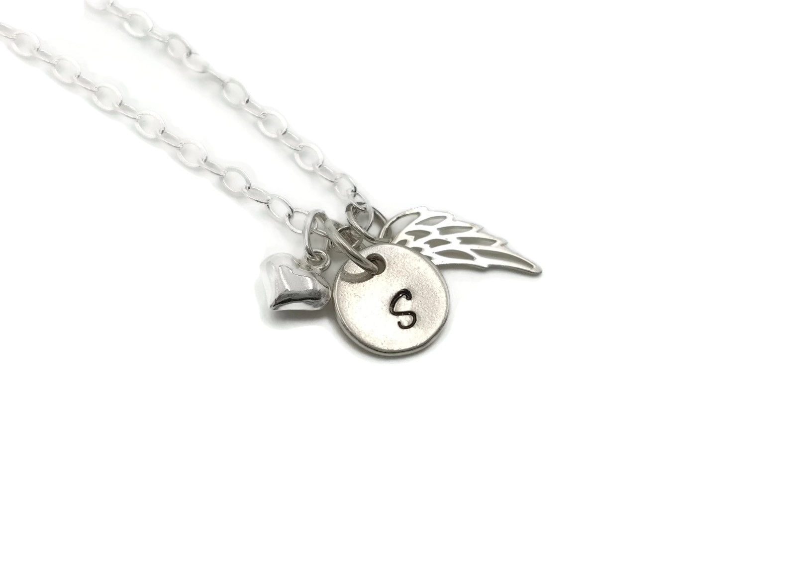Sterling Silver Christmas Personalized Memorial Necklace with Card and Gift Box