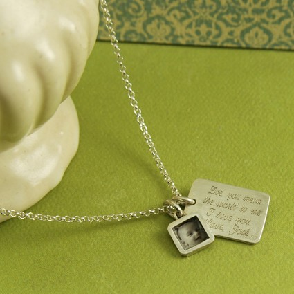 Tablet Photo Necklace - Bereavement Jewelry