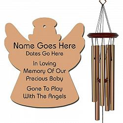 Angel Wind Chimes - Personalized Memorial Wind Chimes - Bronze - Urn Available - Free Shipping