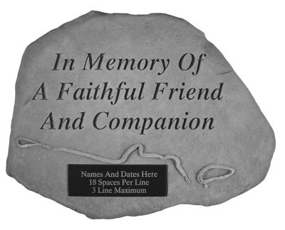 Personalized In Memory of a Faithful Friend Pet Memorial Garden Stone