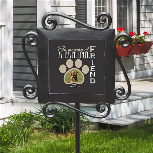 Pet Memorial Garden Stake with Photo - In Memory of Dog or Cat