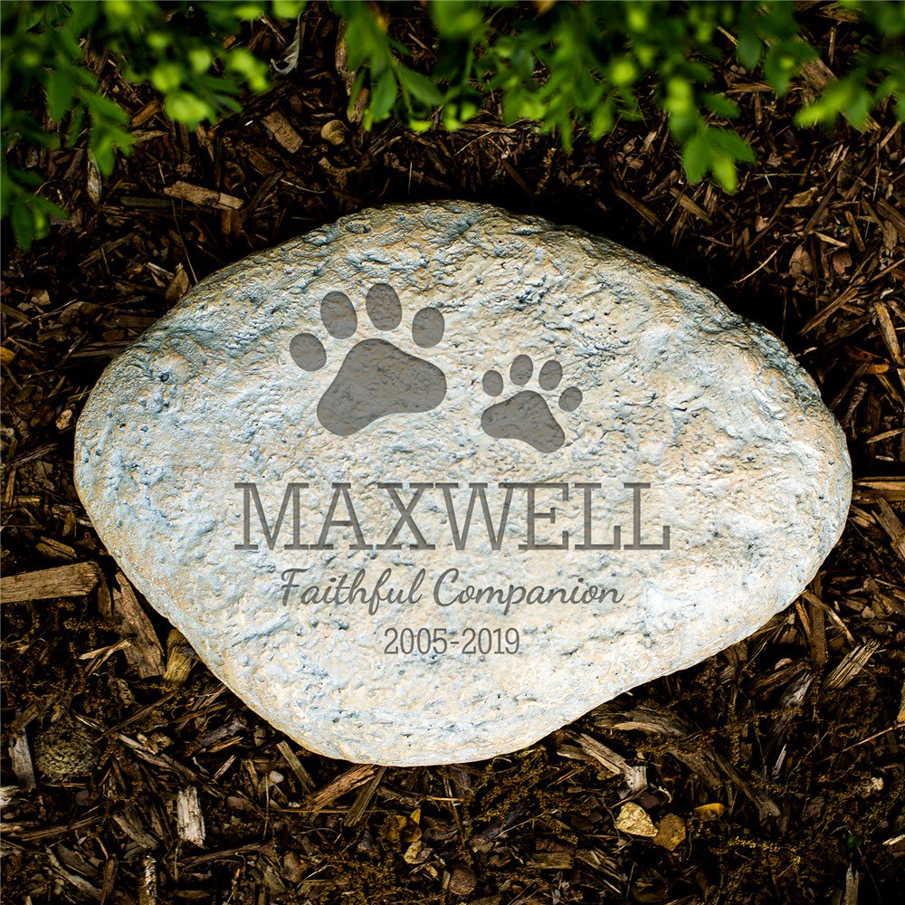 Pet Memorial Garden Stone In Loving Memory - Pet Memorial Gift Idea