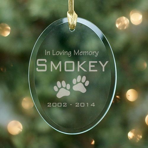 In Loving Memory Pet Christmas Memorial Ornament