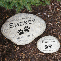 Engraved Pet Memorial Garden Stone - Pet Memorial Gifts