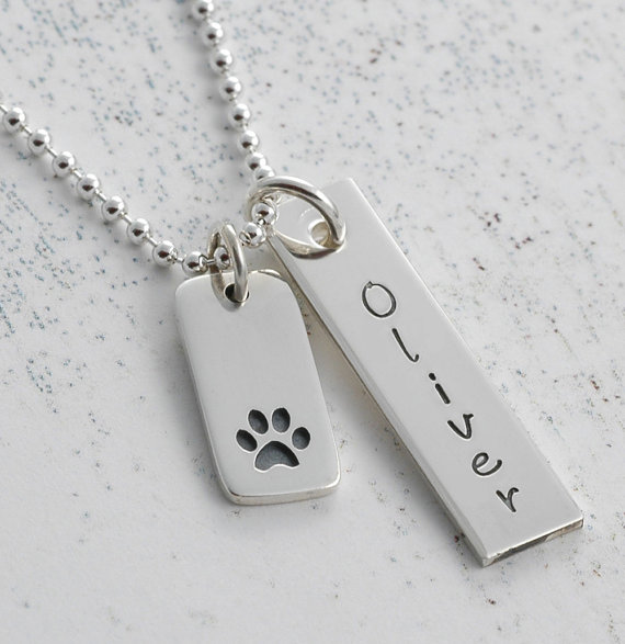 I Love My Pet - Personalized Handstamped Pet Memorial Jewelry