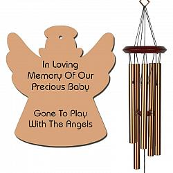 Angel Wind Chimes - Infant Loss Bronze - Suitable for Miscarriage