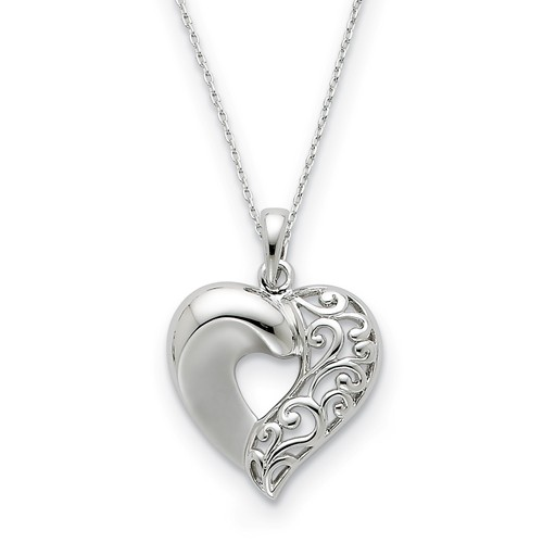 Sterling Silver Close To My Heart Necklace - Free Shipping