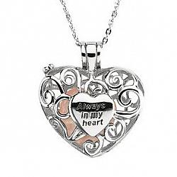 I Carry You In My Heart Always Necklace - Memorial Necklace - Memorial Jewelry