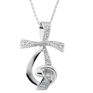 Sing for Joy (TM) Pendant and Chain Sterling Silver - Christian Jewelry
